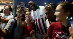 Magic Johnson was surrounded by fans in Split. He took photos with everyone