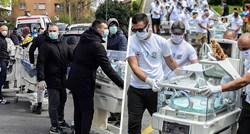 Football supporters in front of a hospital in Zagreb impressed the world once again
