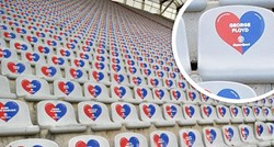 Wonderful gesture by a Hajduk fan: George Floyd's name appeared in a heart on Poljud