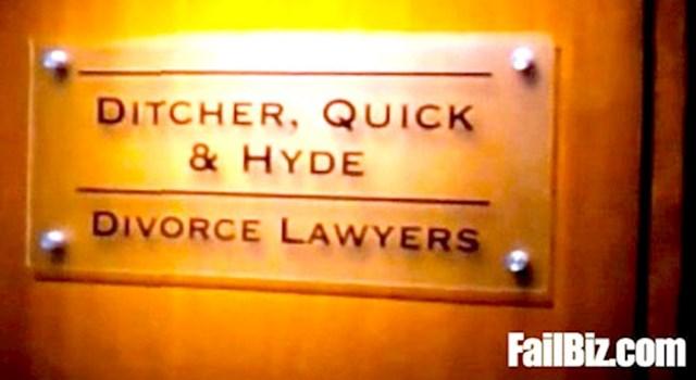 Odvjetnički ured za razvode braka. Prezimena su se baš poklopila
