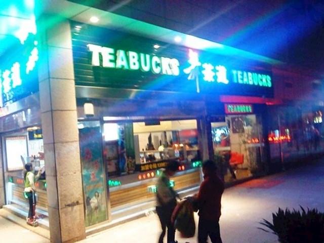 Teabucks, kopija Starbucksa, samo za čajeve