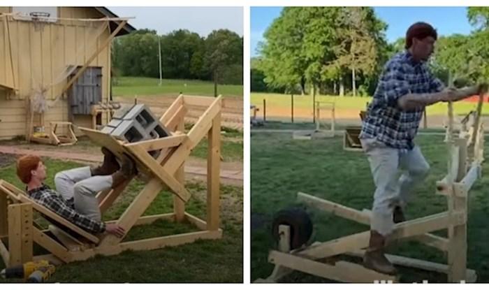 VIDEO Tip je sebi izradio teretanu od drva i betona kako bi ostao u formi tijekom lockdowna