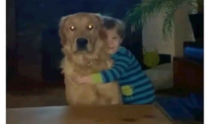 Pogledajte što ovaj pas učini svaki put kada ga njegov maleni vlasnik zagrli!