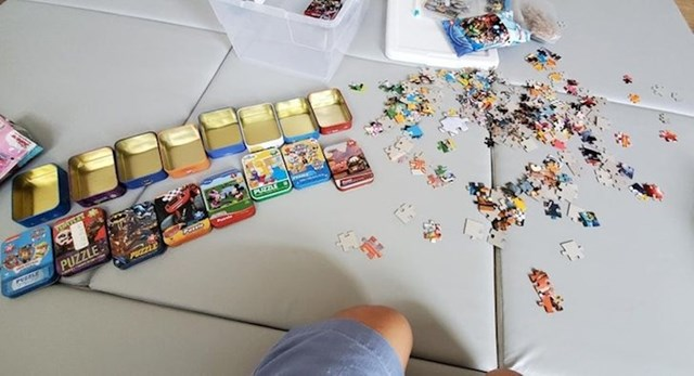 1. pravilo- pomiješaj sve puzzle koje postoje u kući!