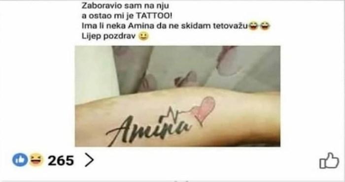 Tražio je curu s imenom bivše da ne bi morao skidati tetovažu, u komentar dobio još bolji prijedlog