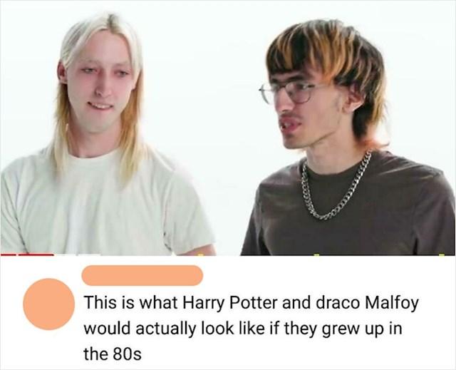 Harry Potter i Draco Malfoy da su odrasli u osamdesetima