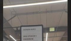 Netko je fotkao urnebesnu obavijest kupcima u jednoj trgovini i nasmijao cijelu regiju; ovo je hit!