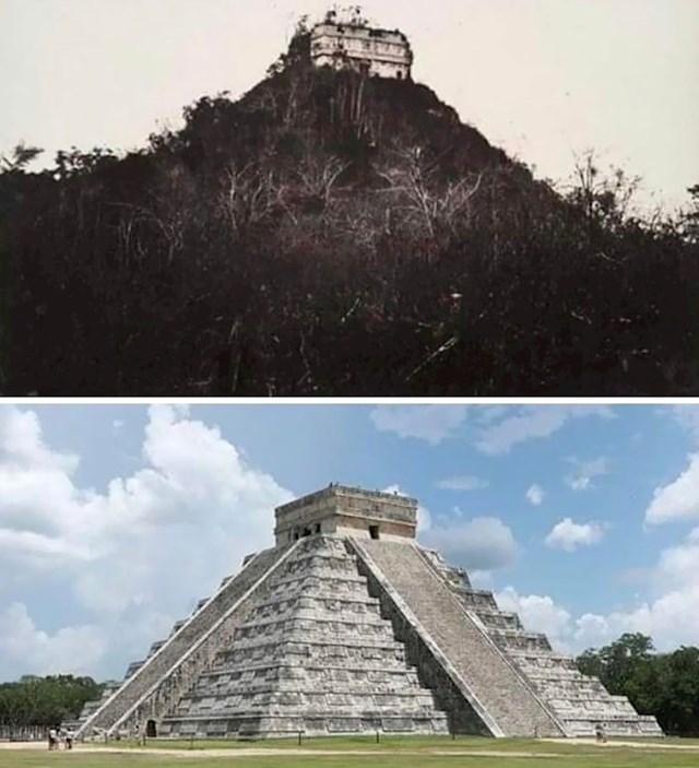 Chichen Itza prije i nakon otkrića