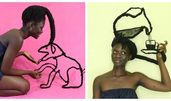 Zovu je Picasso konjskih repića; pogledajte koja čuda ova umjetnica radi od svoje kose!