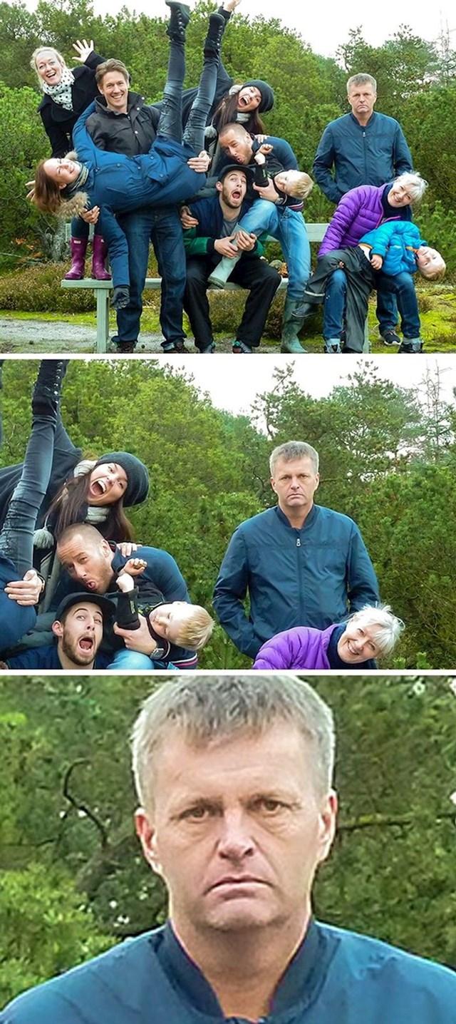 8. Htjeli smo neku bedastu obiteljsku fotku. Tata nije.