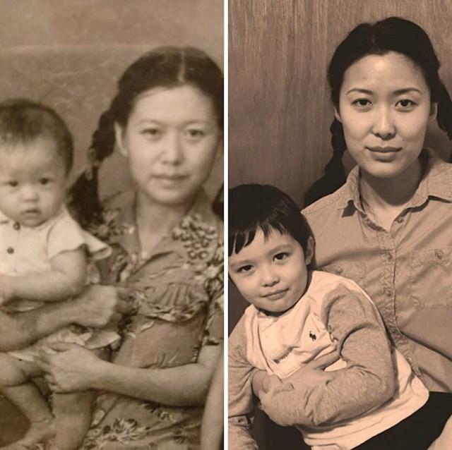 Ista obitelj, fotke napravljene sa 63 godine razlike