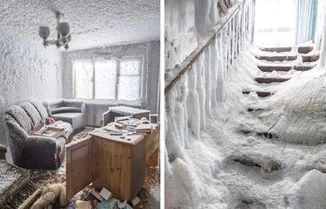 9. Napušteni stan u arktičkom pojasu u Rusiji