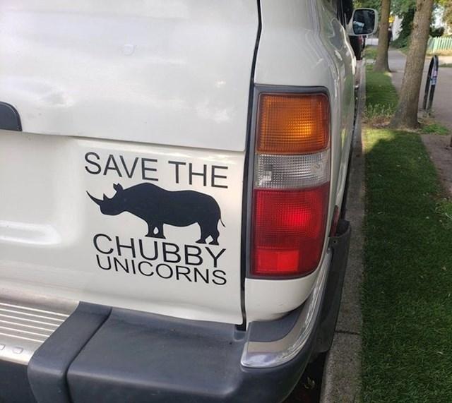 Možda će nekome proraditi lampica u glavi ako nosoroga nazovemo debeljuškasti jednorog