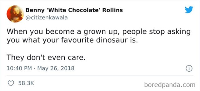Ljude uopće više nije briga koji ti je najdraži dinosur...
