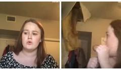 Cura se snimala dok pjeva, a onda je netko neočekivano upao u kadar- kroz strop!