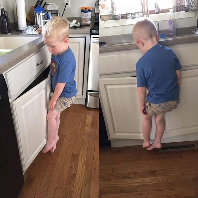 """""""Popeo se da opere ruke nad sudoperom i zapeo je za ručke ormarića..."""""""
