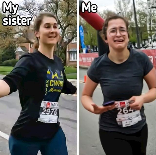 """""""Kada te sestra uvjeri da s njom trčiš polumaraton i da uopće nije toliko teško..."""""""