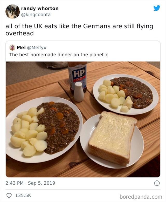 """""""Cijelo Ujedinjeno Kraljevstvo jede kao da Nijemci još uvijek avionima kruže iznad njihovih glava"""""""