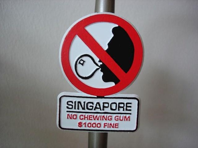 Ako planirate posjetiti Singapur, bolje da zaboravite na žvakaće gume