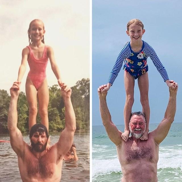 4. Otac i kćerkica i taj isti tip sa unučicom na istom mjestu