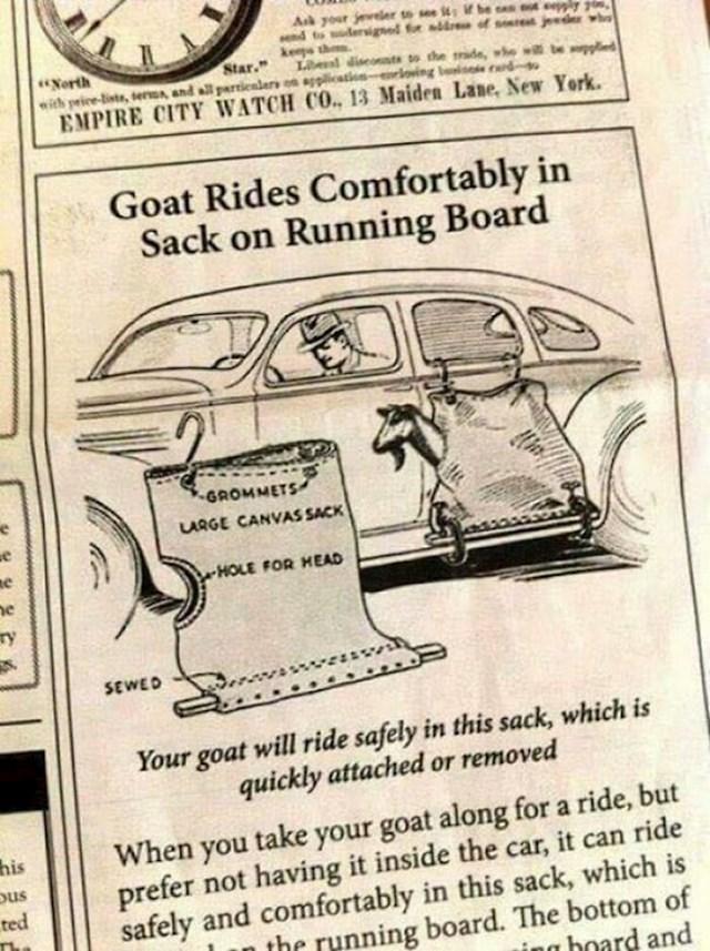 """""""Nikad ne znate kada ćete trebati prevoziti koze"""""""