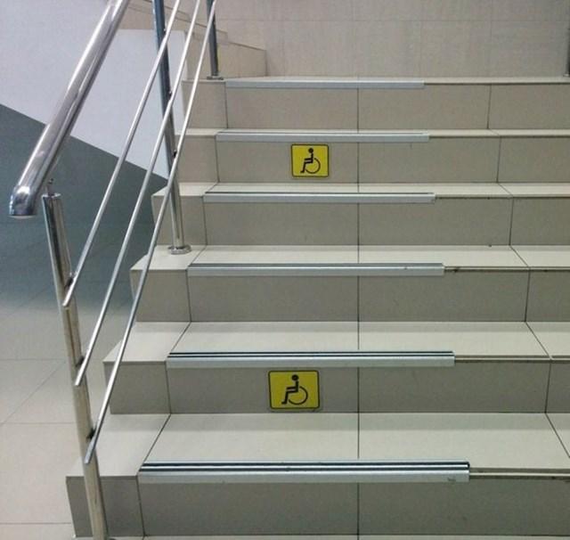 15. Dio stubišta je, navodno, pristupačan ljudima u invalidskim kolicima