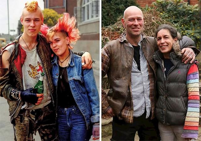 Na početku veze kao mladi punkeri i danas, 40 godina nakon