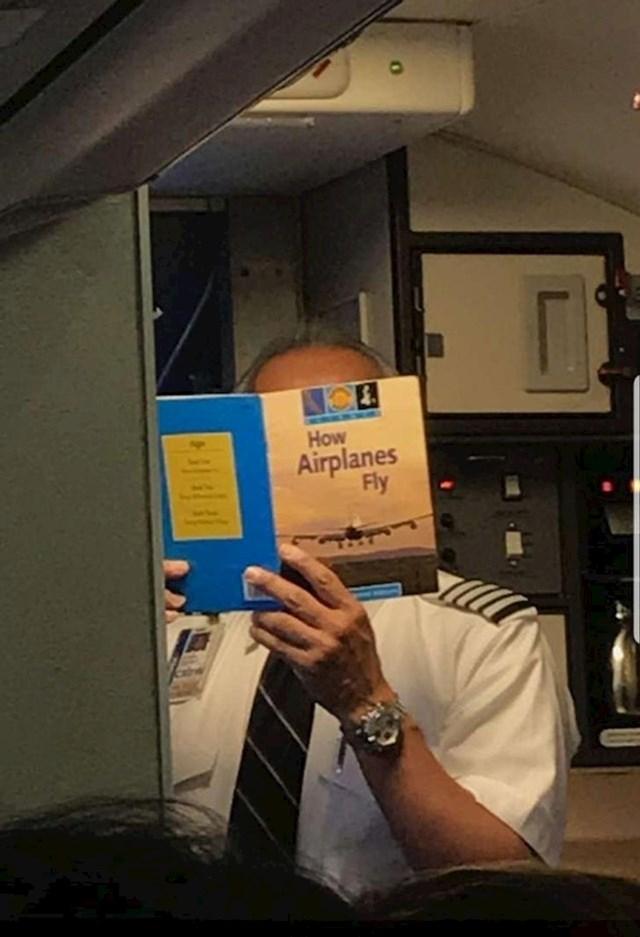 ... niti na pilota koji čita ovo netom prije leta!