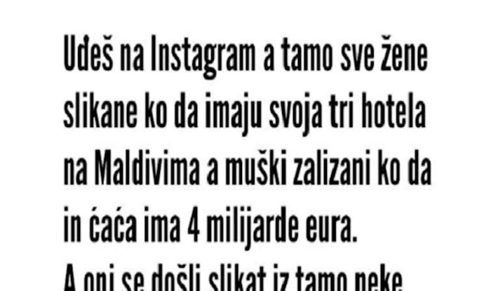 Netko je opisao što stoji iza Instagram objava o savršenim životima i nasmijao tisuće na Fejsu