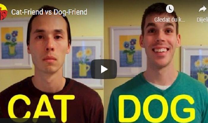 VIDEO Pogledajte kako su ovi momci prikazali razlike u ponašanju između pasa i mačaka. Genijalno!
