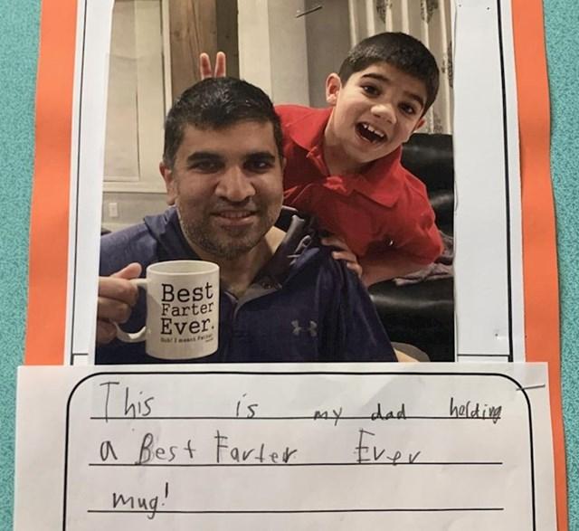 """""""Pomagao sam sinu oko domaće zadaće i vidio ovu fotku u pernici"""""""