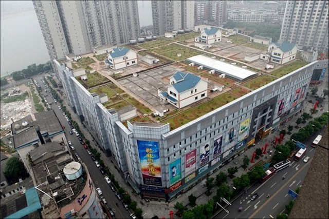 Kuće na vrhu zgrade (Kina)