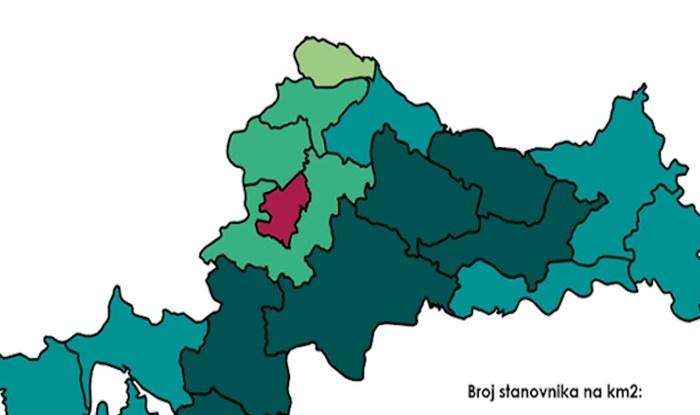 Ova karta će vam malo jasnije dočarati koliko je Hrvatska, zapravo, pusta