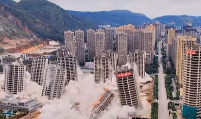 Pogledajte trenutak kada je 15 nebodera u Kini sravnjeno sa zemljom; razlog će vas zaprepastiti