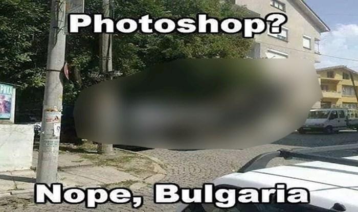 Prizor iz Bugarske nasmijao Fejs; kako je uopće netko uspio parkirati ovo usred kvarta?