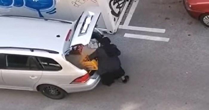 Umrijet ćete od smijeha kada vidite što je ova časna izvadila iz prtljažnika auta i odjurila