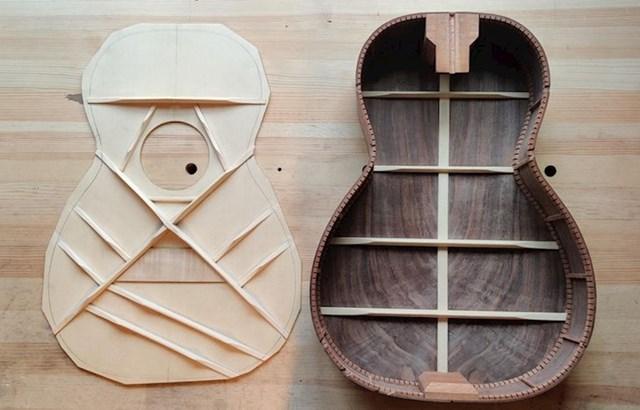 Gitara rastavljena na dijelove