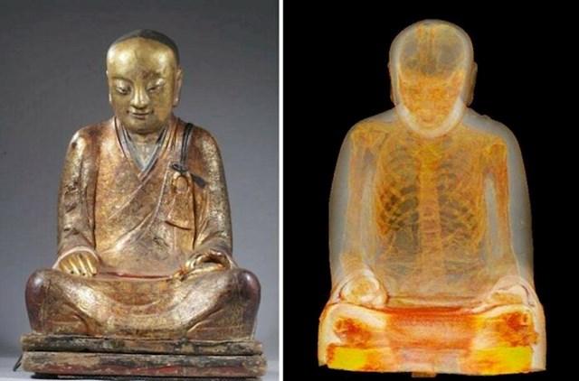 """""""CT snimak 1000 godina starog kipa Bude pokazao je da su u njemu ostaci jednog od redovnika"""""""