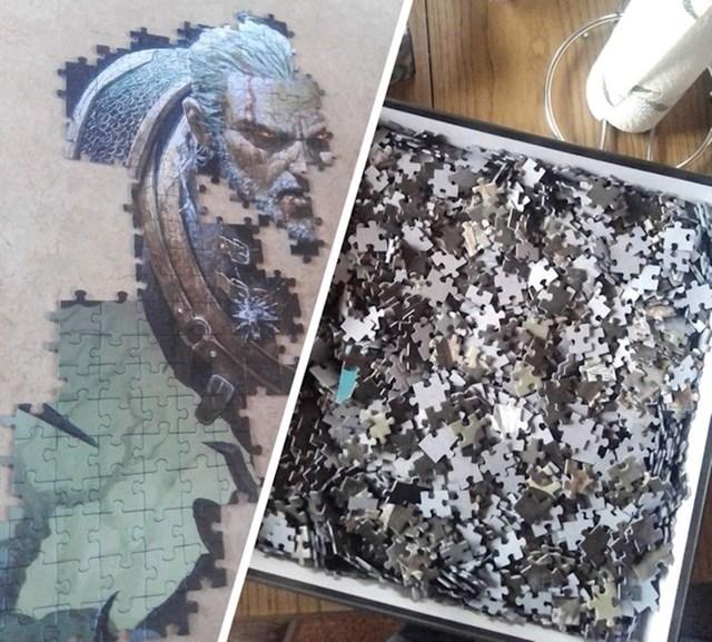 """""""Tata i ja smo slagali puzzle nekoliko dana, a onda su baka i djed došli u posjet i odlučili srediti nered..."""""""