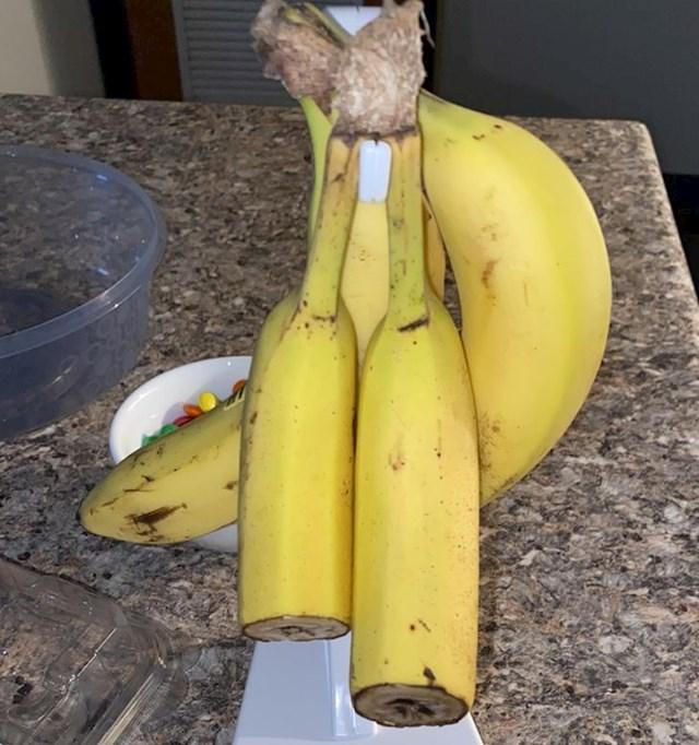 """""""Cura ne pojede prvu, a već krene na drugu bananu. I kako ih ovo reže???"""""""