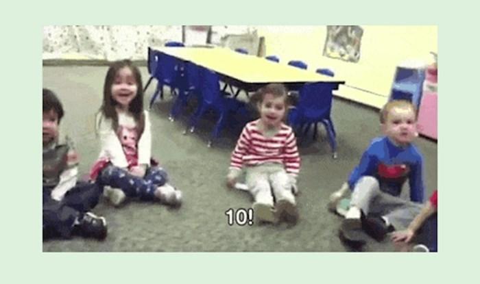 Morate vidjeti što je ova djevojčica napravila kada su učili brojeve u vrtiću!