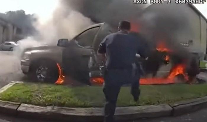 Hrabri policajci spasili onesviještenog čovjeka iz gorućeg auta; ovo su pravi heroji!