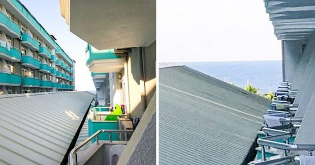 8. Hotel nas uopće nije prevario kada je napisao da soba ima pogled na more. Ovo je pogled: