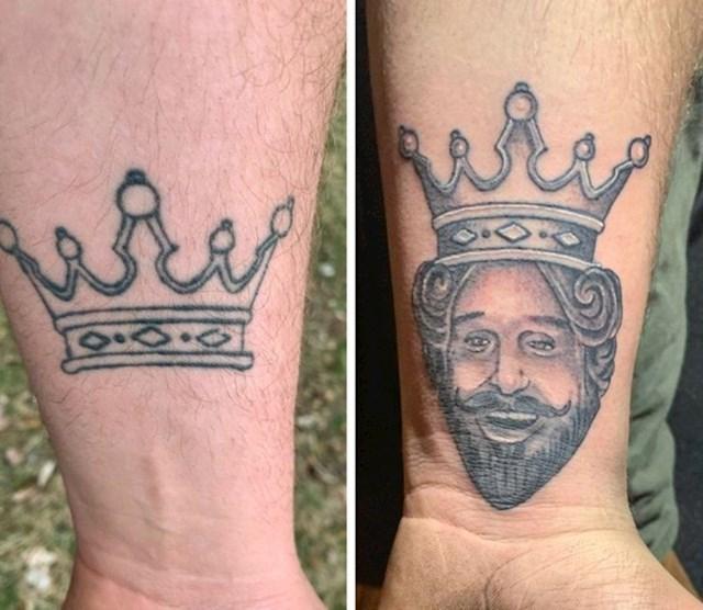 15. Zajednička tetovaža sa, sada, bivšom curom, dobila je novo ruho