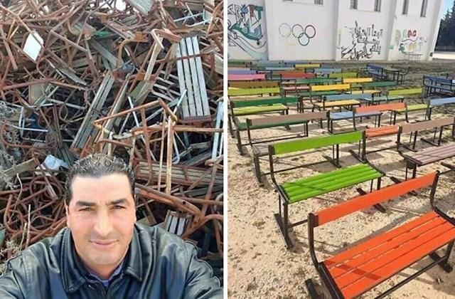 Marokanski domar je lockdown iskoristio za obnovu školskih klupa koje su namjeravali baciti