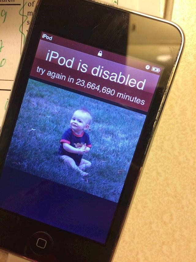 """""""Djeca su mi uspjela blokirati iPod na 45 godina..."""""""