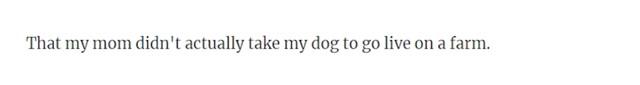 """""""Da mama nije odvela našeg psa da živi na farmi..."""""""
