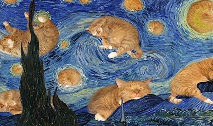 Ruska umjetnica ubacuje svog velikog ginger mačka u poznata remek djela i rezultati su urnebesni