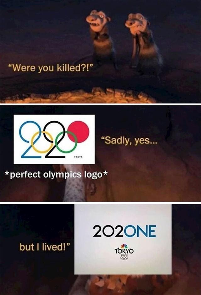 6. Prošle godine mnogi nisu mogli prežaliti što savršeni logo OI 2020 neće biti iskorišten. Ali dizajneri su spasili stvar!
