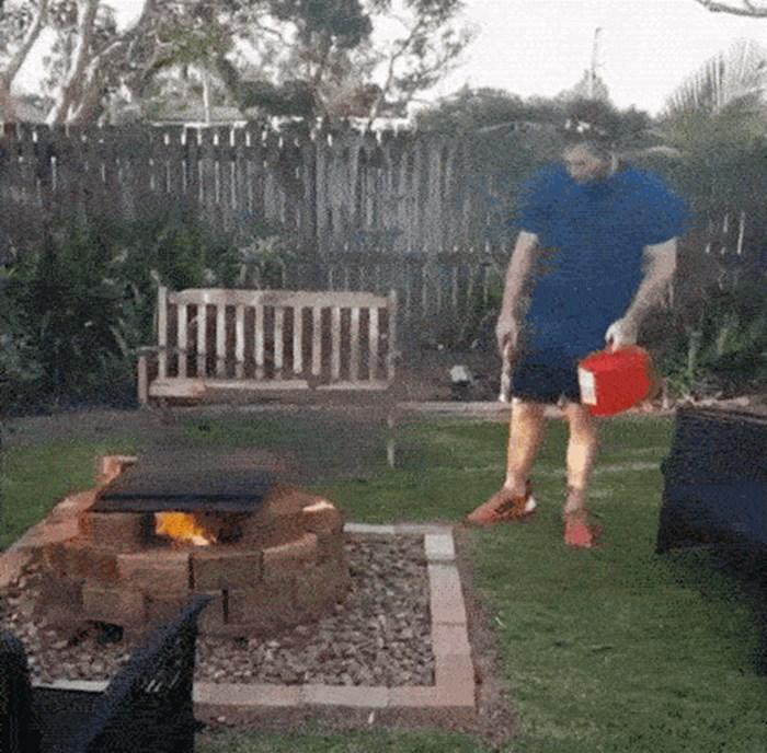Antitalent za roštiljanje: Htio je jaču vatru, to je i dobio, no ne onako kako je očekivao